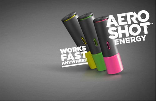 AeroShot - A Revolutionary Way to Energize Your Day.  (PRNewsFoto/AeroDesigns)