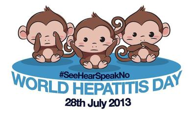 The Three Wise Monkeys have been sent across the world, encouraging people to stop ignoring viral hepatitis