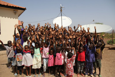 """BT's """"Connecting Africa"""" program with SOS Children's Villages.  (PRNewsFoto/BT)"""