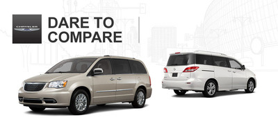 See how the new Chrysler Town & Country stacks up against the competition.  (PRNewsFoto/Palmen Motors)