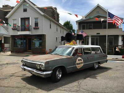 Marco's Pizza is out to be elected America's Pizza. To kickoff its campaign, it took to the streets of Cleveland during the RNC in a retro campaign vehicle complete with rooftop speakers.