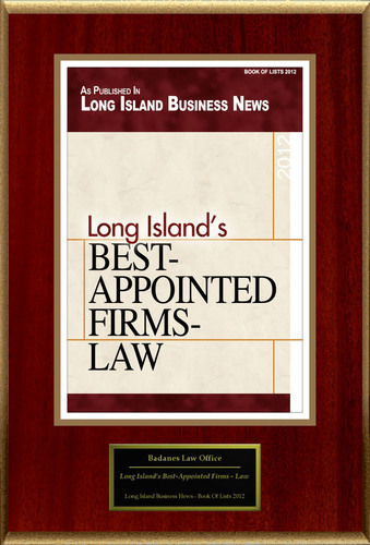 Badanes Law Office Selected For 'Long Island's Best-Appointed Firms - Law'