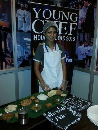 Aspiring Young Chef Student with her dish (PRNewsFoto/IIHM)