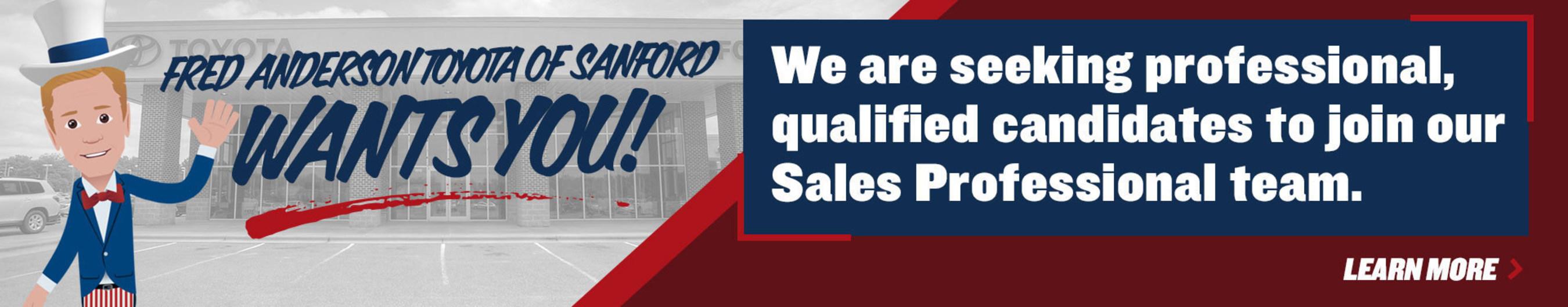 Sanford, North Carolina dealership seeks to fill sales positions