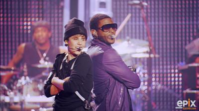 Usher & Bieber Back 2 Back on EPIX -- 10/9.  (PRNewsFoto/EPIX)