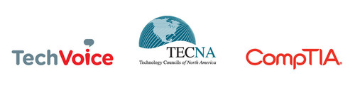 TechVoice, TECNA and CompTIA working together.  (PRNewsFoto/CompTIA)