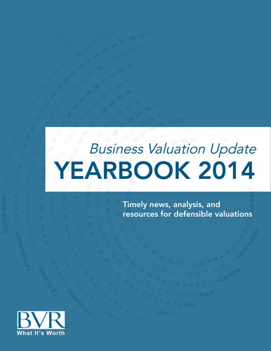 Business Valuation Update Yearbook 2014 (PRNewsFoto/Business Valuation Resources)