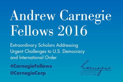 The Andrew Carnegie Fellows Program recognizes 33 scholars for significant work in the social sciences and humanities--each will receive $200,000 to fund research proposals.