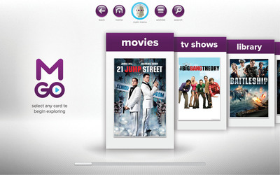 New Release Movies, Catch Up Television and Deep Catalog Content For Purchase and Rental.  (PRNewsFoto/M-GO)