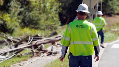 Duke Energy crews survey Hurricane Matthew damage in Durham County, N.C.