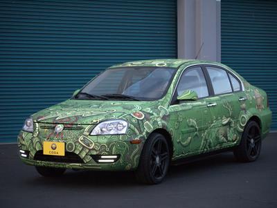 CODA Automotive iPad Art Car by Artist Matthew Watkins.  (PRNewsFoto/CODA Automotive)