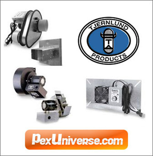 PexUniverse.com offers a various Tjernlund ventilation products are manufactured in the USA for over 70 years and are known for their quality, durability and ease of installation.  (PRNewsFoto/PEX Universe)