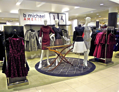 b michael AMERICA shop-in-shop at select MACY'S nationwide (PRNewsFoto/b michael AMERICA )
