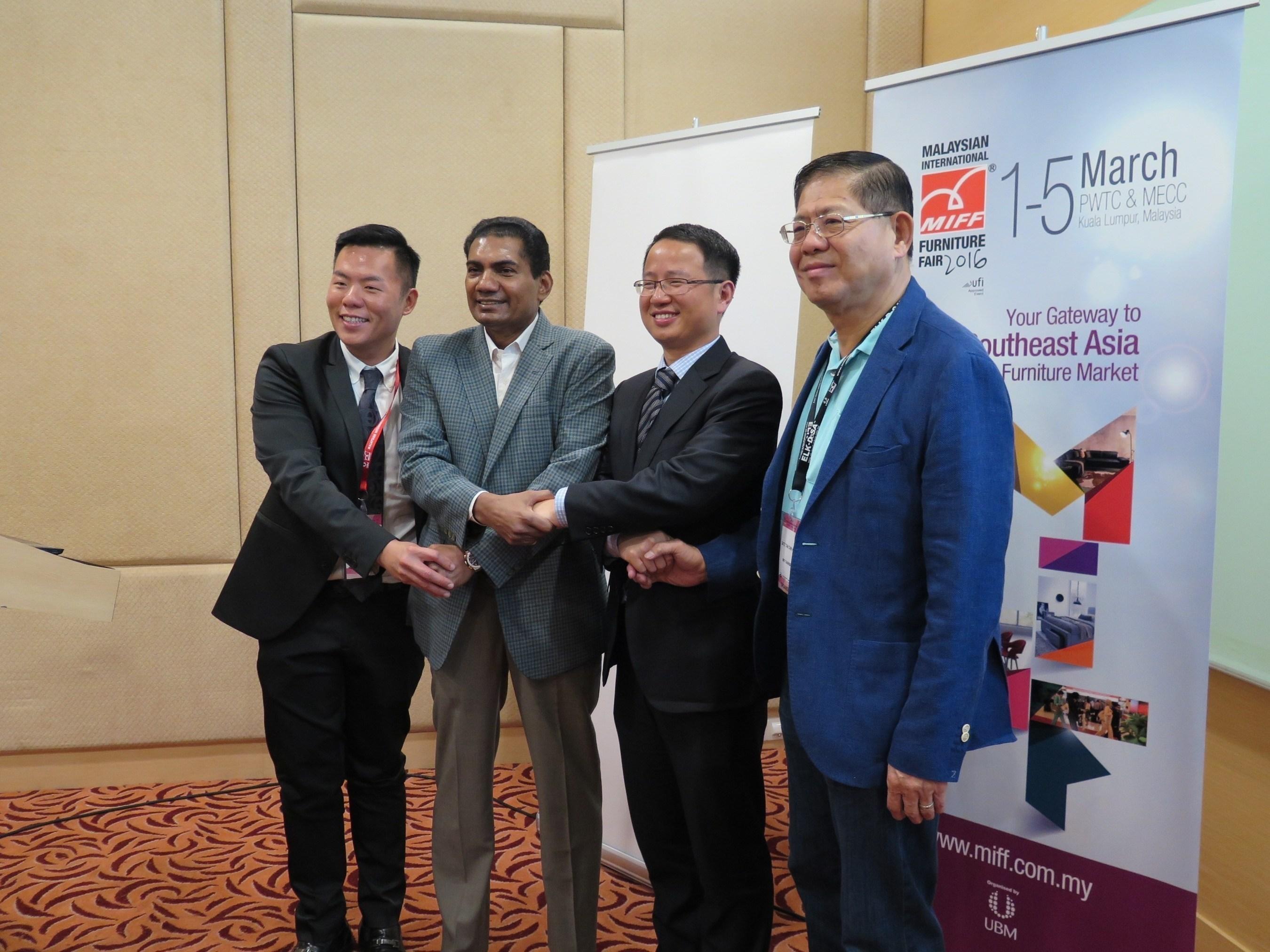 From (L) Ben Veechai, International Marketing Director of UBM Asia; M Gandhi, Managing Director- ASEAN ...