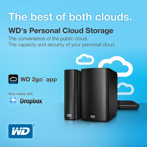 WD(R) Redefines Personal Cloud With Dropbox Integration.  (PRNewsFoto/WD)