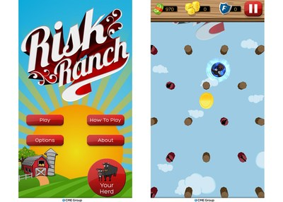 New Risk Ranch app available for free download in the iTunes App Store and Google Play (PRNewsFoto/CME Group)