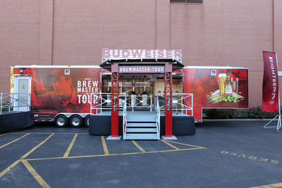 The new mobile Budweiser Brewmaster Tour will begin a 45-week journey today in St. Louis and travel to various parts of the country, offering beer drinkers an authentic, hands-on tour of Budweiser's time-honored brewing process. At each stop, visitors will learn about Budweiser's key ingredients -- barley, hops, rice, yeast and water -- the brewing process, fermentation and beechwood aging, and finishing.  (PRNewsFoto/Anheuser-Busch)