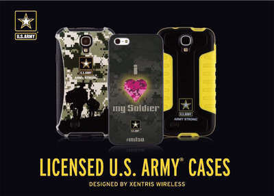U.S. Army Branded Mobile Cases with Sales Benefiting Army Family Programs. (PRNewsFoto/Xentris Wireless) (PRNewsFoto/XENTRIS WIRELESS)
