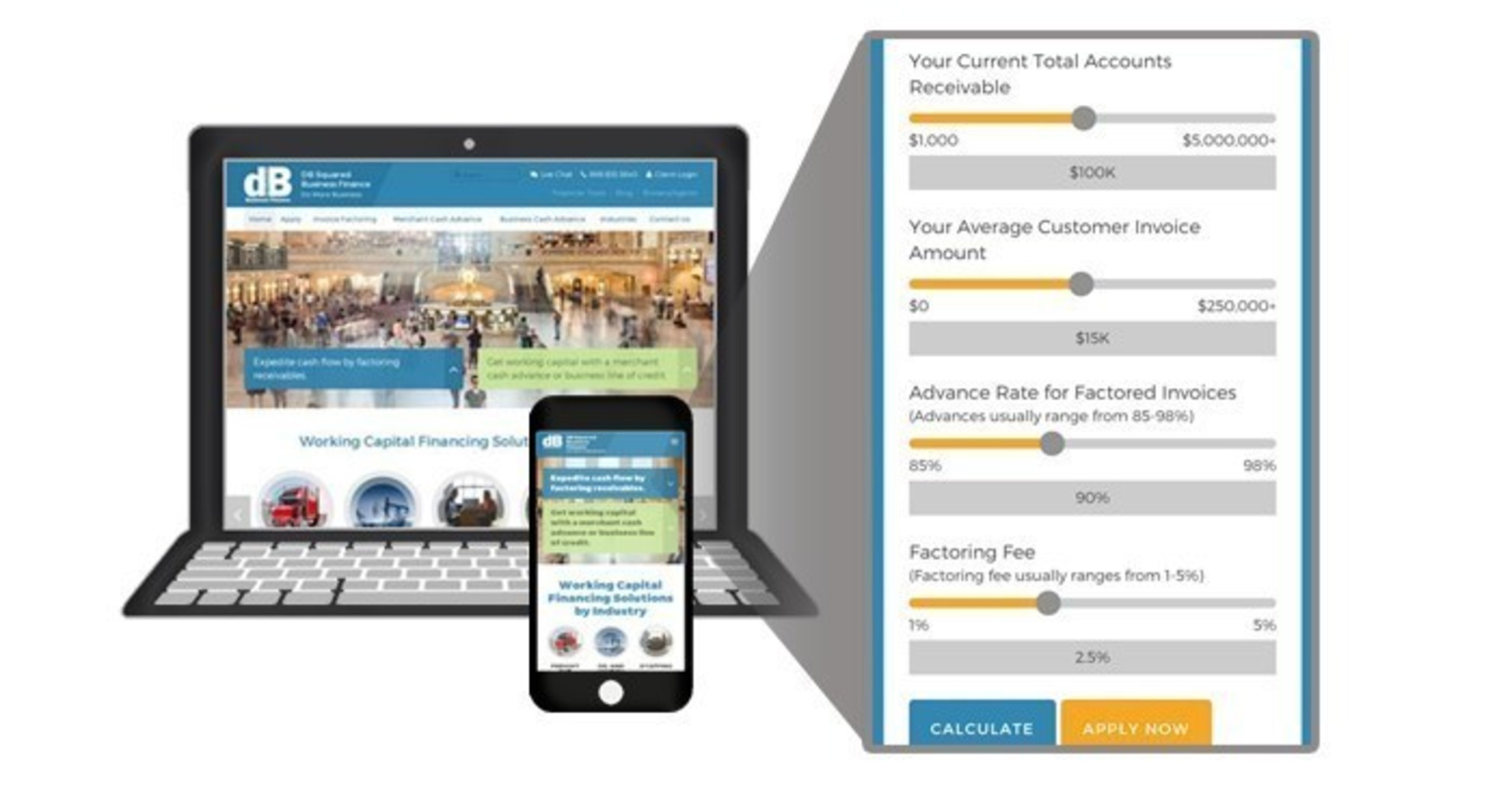 DB Squared Announces Business Finance Site Redesign