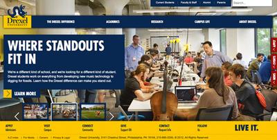 Drexel University Website.  (PRNewsFoto/WebDesignDegreeCenter.org)