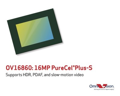 OmniVision's OV16860 is the industry's fastest frame rate 16-megapixel PureCel(R)Plus-S sensor for smartphones and action cameras.