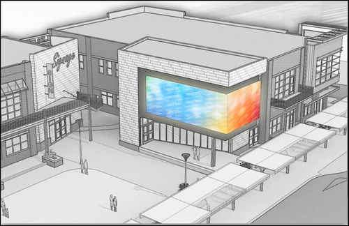 Artist rendering of the Panasonic installation of The Cube display.  (PRNewsFoto/Panasonic Corporation of North America)