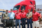 C. R. England Military Veteran Drivers (L to R) David Bice, Sean Ritter, William Lowry, Patrick Pyfferoen, Brent Sanger, Nico Turner. These drivers have been selected to drive military-branded C.R. England trucks. Each has a background of military service. (PRNewsFoto/C.R. England, Inc.)