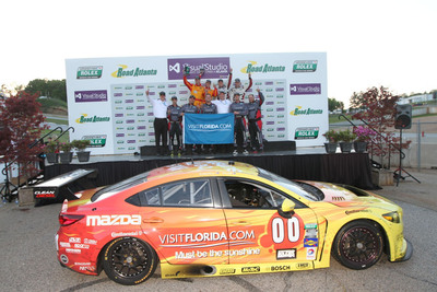 MAZDA SCORES FIRST RACE WIN WITH SKYACTIV-D CLEAN DIESEL.  (PRNewsFoto/Mazda North American Operations)