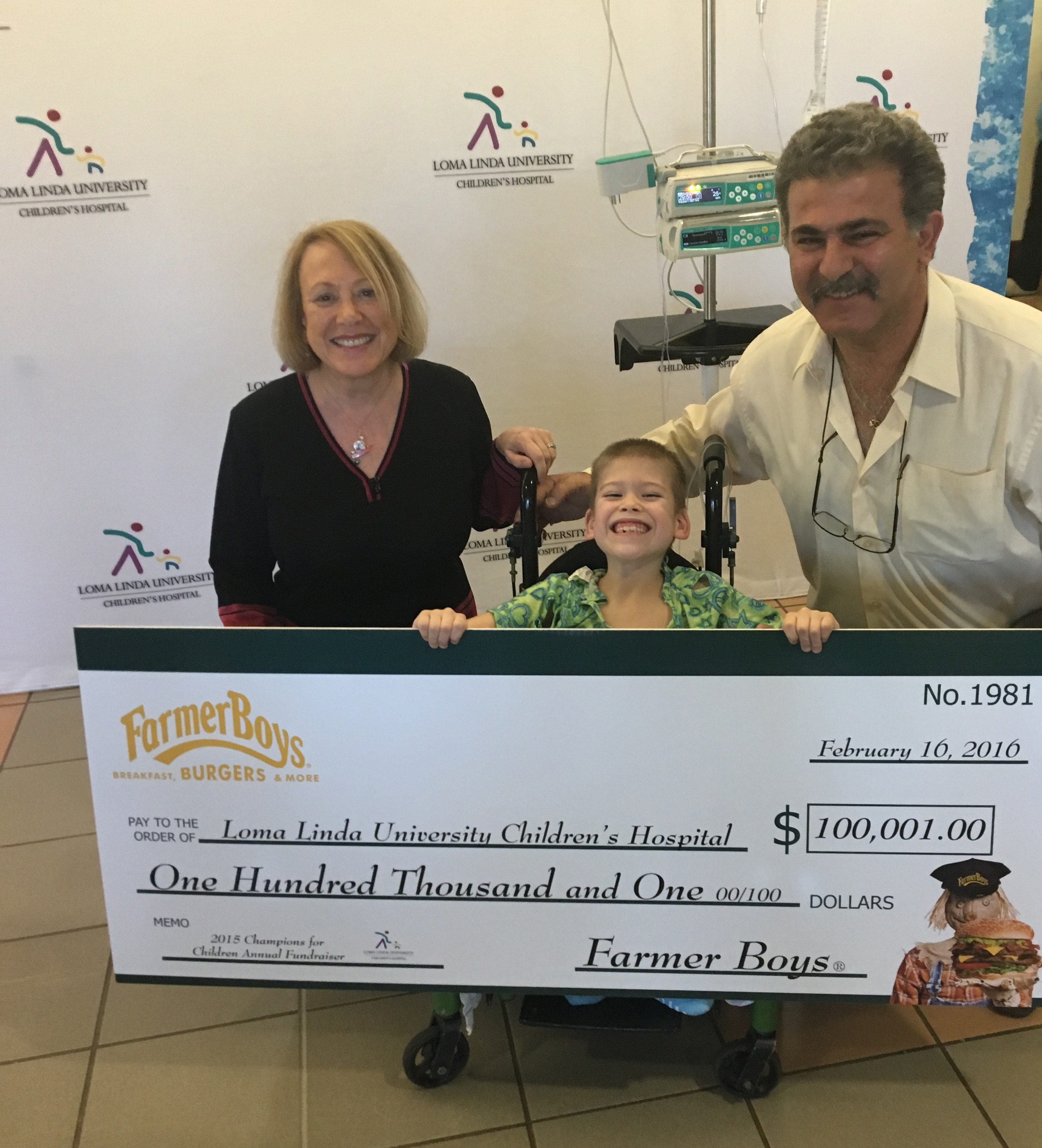 Farmer Boys Donates Over $100,000 to Loma Linda University
