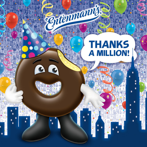 "HORSHAM, PA - ""Rich,"" the iconic donut from Entenmann's Bakery, thanks all Facebook Fans for ..."