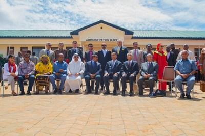 Tanzania's President Jakaya Kikwete, first lady Salma Kikwete, Ibrahim Sharaf and Sharafuddin Sharaf at the opening of the WAMA Sharaf Secondary School. (PRNewsFoto/Sharaf Group) (PRNewsFoto/Sharaf Group)