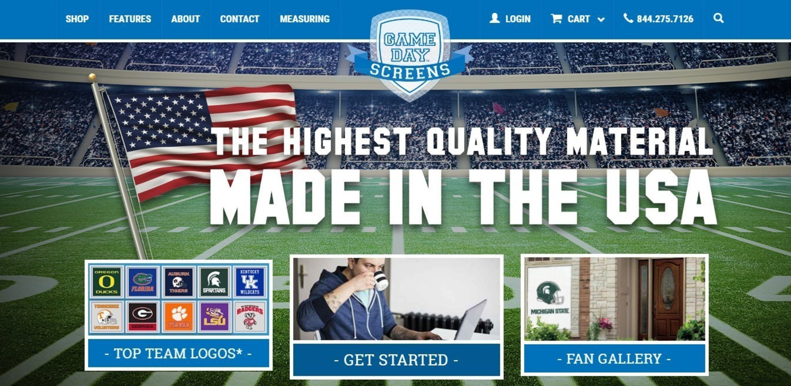 Game Day(TM) Screens; quality product made in the USA.