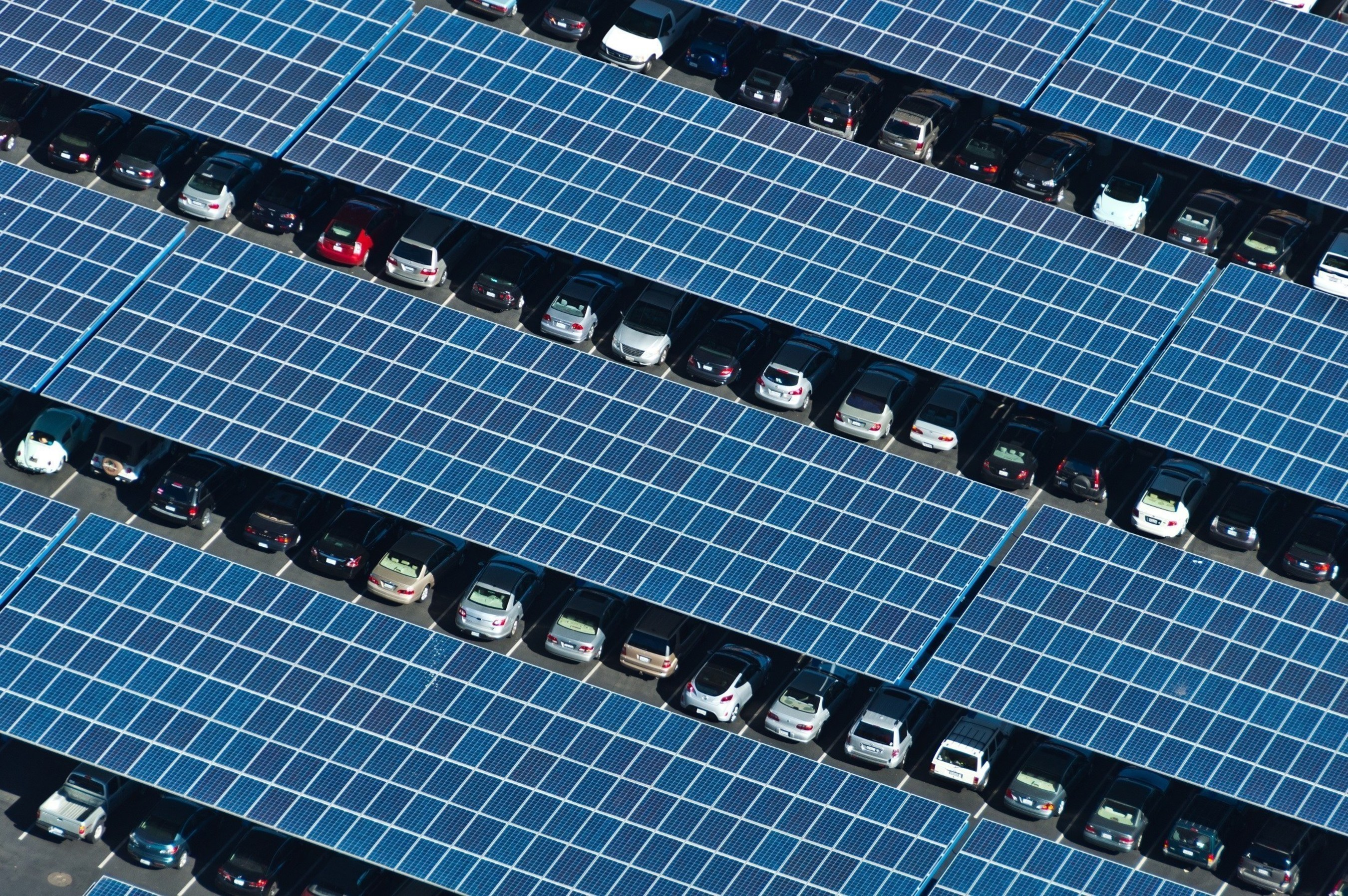 SunEdison solar parking canopies provide both shade for parked cars and cost effective, clean solar energy.