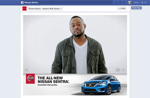 Nissan Helps Create Great First Impressions Via Personalized Facebook Experience.  (PRNewsFoto/Nissan North ...
