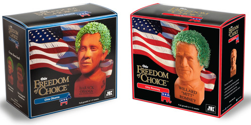 Chia Obama and Chia Romney www.americanchia.com.  (PRNewsFoto/Joseph Enterprises, Inc.)