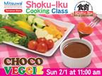 "February kids cooking class ""Choco Veggie"" at Mitsuwa Marketplace Torrance store"