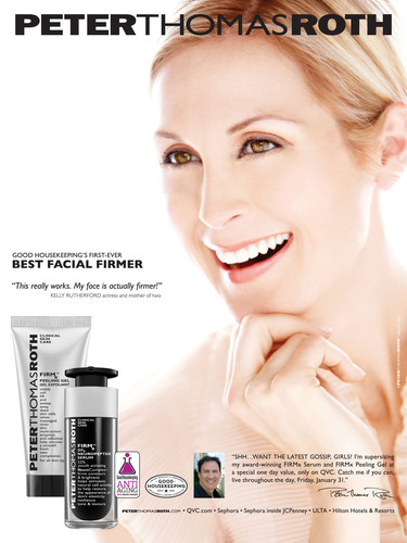 Peter Thomas Roth Announces Kelly Rutherford as New Brand Spokesmodel. (PRNewsFoto/Peter Thomas Roth) ...