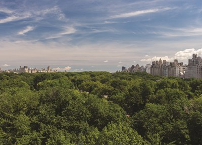 Central Park view from 22 Central Park South (PRNewsFoto/Elad Group)