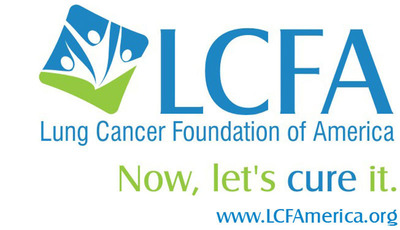 Logo, tag line and web address for the Lung Cancer Foundation of America.  (PRNewsFoto/Lung Cancer Foundation of America)