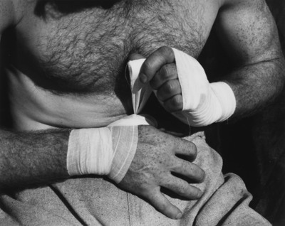 Willard Van Dyke, Boxer's Hands, circa 1933, gelatin silver print, courtesy Scott Nichols Gallery, (C) 2012 Willard Van Dyke estate. All rights reserved.  (PRNewsFoto/Monterey Museum of Art)