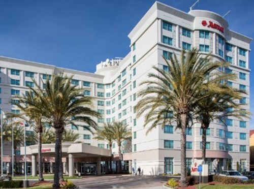 Fremont Marriott Exterior and Fremont Marriott Guest Room (PRNewsFoto/Ashford Hospitality Trust, Inc.)