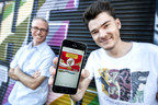 FunCaptcha Founders Matthew Ford (l) and Kevin Gosschalk (r) with FunCaptcha on a mobile app. FunCaptcha uses gamified technology that is easy for humans but impractical for bots and automated systems to complete. - Photo Credit: Erika Fish, QUT
