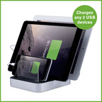 With 5.2 amps of power, the Atomi Charge Station can charge up to 2 tablets and 1 smartphone at the same time.