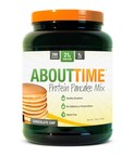 About Time Protein Pancake Mix created by SDC Nutrition Inc.  The only gluten-free pancake mix on the national market.    www.tryabouttime.com