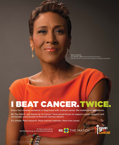 Robin Roberts in the new PSA with Be The Match and Stand Up To Cancer (SU2C).  (PRNewsFoto/Stand Up To Cancer)