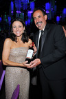 Julia Louis Dreyfus - Outstanding Lead Actress in a Comedy Series (Veep) Pictured with BV Winemaker, Jeffrey Stambor.  (PRNewsFoto/Beaulieu Vineyard)