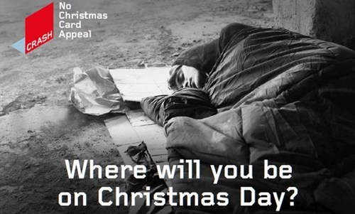 Where will you be on Christmas Day? CRASH Launches No Christmas Card Appeal 2015 (PRNewsFoto/CRASH) (PRNewsFoto/CRASH)