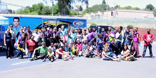 Members and staff of the Continentals of Omega Boys and Girls Club enjoy an afternoon of fun thanks to ...