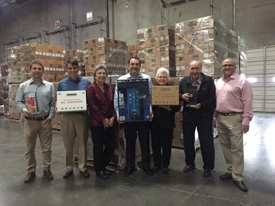 Delicato Family Vineyards executives celebrate Bota Box reaching 4 million cases in sales this year.