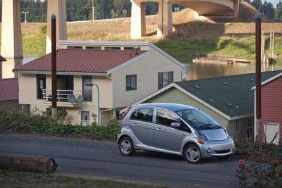 Mitsubishi i can now be charged with AeroVironment's turnkey charging solution.    (PRNewsFoto/Mitsubishi Motors North America, Inc.)